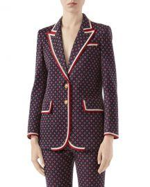 Gucci Geometric GG Jacquard Jacket at Neiman Marcus