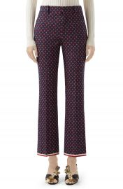 Gucci Geometric Logo Jacquard Ankle Bootcut Pants   Nordstrom at Nordstrom