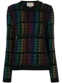 Gucci Hollywood Metallic Sweater at Farfetch