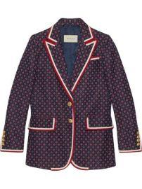 Gucci Jacket With Geometric Jacquard Pattern - Farfetch at Farfetch