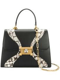 Gucci Leather And Snakeskin Top Handle Bag - Farfetch at Farfetch