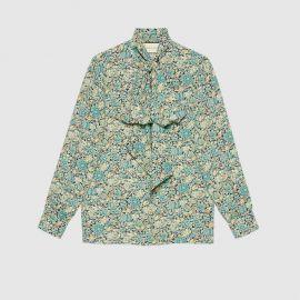 Gucci Liberty floral crepe shirt at Gucci