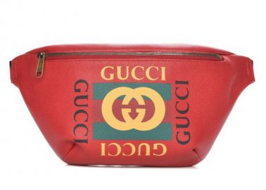Gucci Logo Belt Bag Hibiscus Red at Stock X