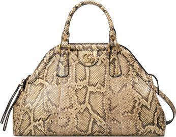 Gucci Medium RE BELLE  Genuine Python Satchel   Nordstrom at Nordstrom