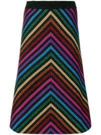 Gucci Metallic Striped Knit Skirt - Farfetch at Farfetch