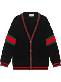 Gucci Oversize Cable Knit Cardigan - Farfetch at Farfetch