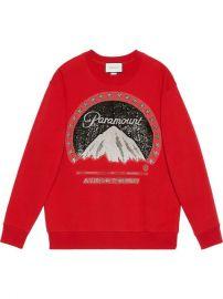 Gucci Oversize Sweatshirt With Paramount Logo - Farfetch at Farfetch