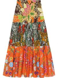 Gucci Patchwork Print Skirt - Farfetch at Farfetch
