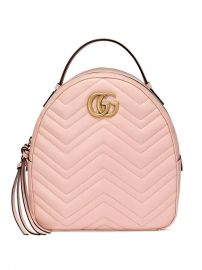 Gucci Pink GG Marmont Leather Backpack - Farfetch at Farfetch
