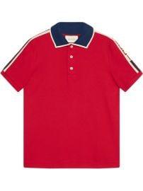 Gucci Red Gucci Stripe Polo Shirt at Farfetch