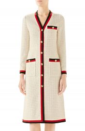 Gucci Ribbon Trim Tweed Dress   Nordstrom at Nordstrom