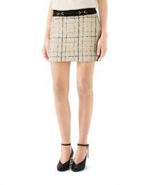 Gucci Romantic Tweed Mini Skirt at Neiman Marcus