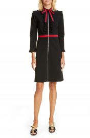 Gucci Ruffle Tie Neck Dress   Nordstrom at Nordstrom