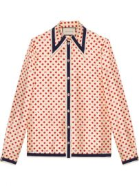 Gucci Shirt With GG  Hearts And Clovers - Farfetch at Farfetch