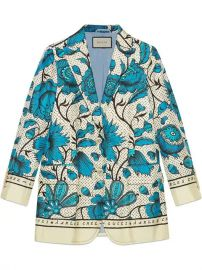 Gucci Silk Jacket With Watercolor Flowers - Farfetch at Farfetch