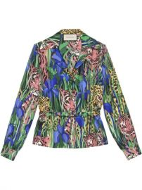 Gucci Silk Shirt With Feline Garden Print - Farfetch at Farfetch