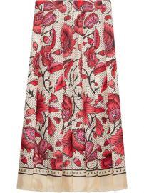 Gucci Silk Skirt With Watercolor Flower Print - Farfetch at Farfetch