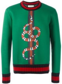 Gucci Snake Print Sweatshirt at Farfetch