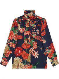 Gucci Spring Bouquet Silk Shirt - Farfetch at Farfetch