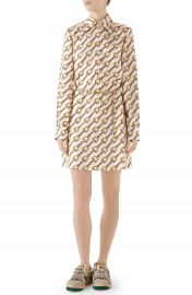 Gucci Stirrups Print Silk Twill Dress   Nordstrom at Nordstrom