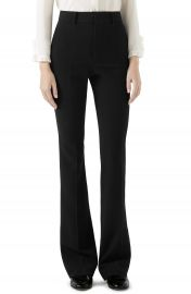 Gucci Stretch Cady Skinny Flare Pants   Nordstrom at Nordstrom