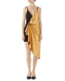 Gucci Suede and Metallic Leather Mini Dress at Neiman Marcus
