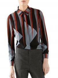 Gucci Triangle-Print Silk Shirt at Saks Fifth Avenue