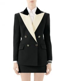 Gucci Two-Tone Silk-Wool Cady Tuxedo Jacket at Neiman Marcus