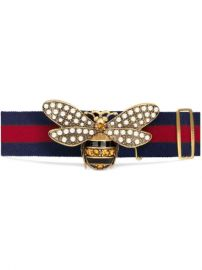 Gucci Web Belt With Bee - Farfetch at Farfetch