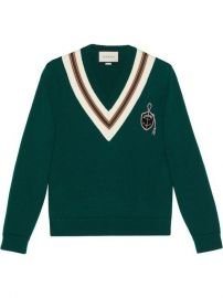 Gucci Wool Sweater With Anchor Crest - Farfetch at Farfetch