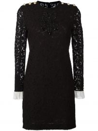 Gucci bead embroidered lace dress at Farfetch