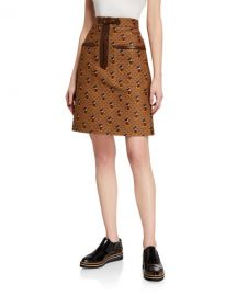 Gucci x Disney Mickey Mouse Canvas Skirt at Neiman Marcus