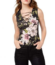 Guess floral lace up top at Amazon