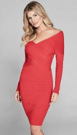 Guess SHAMAY OFF-SHOULDER SWEATER DRESS at Guess