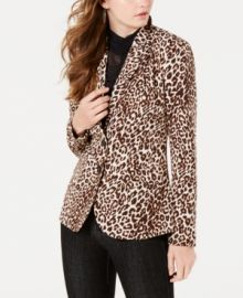 Guess Stefani Leopard Blazer at Macys