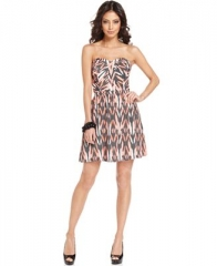 Guess Sweetheart Printed Dress at Macys
