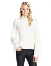 Guess Women s Long Sleeve Samira Voluminous Sleeve Sweater at Amazon
