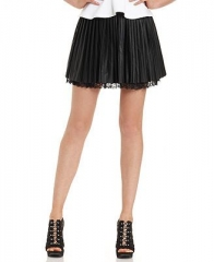Guess pleated faux leather skirt at Macys