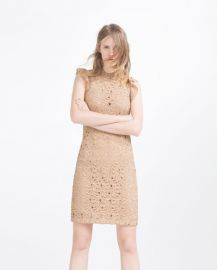 Guipure lace tube dress at Zara