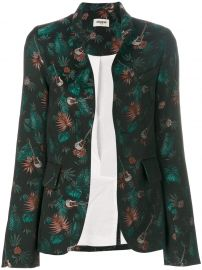 Guitar and Jungle Print Blazer by Zadig and Voltaire at Farfetch