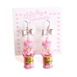 Gumball Machine Earrings by Fatally feminine Designs at Fatally feminine Designs