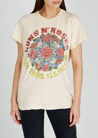 Guns N Roses Glitter Graphic T-Shirt by Madeworn at Harvey Nichols