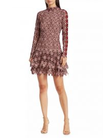 Gupure Floral Embroidery Flounce Dress by Jonathan Simkhai at Jonathan Simkhai