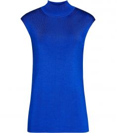 Gwen High neck knitted top at Reiss