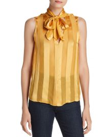 Gwenda Striped Tie-Neck Top at Bloomingdales