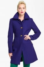 Gwen's purple DKNY coat at Nordstrom