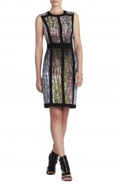 Gwenyth Sleeveless Print Blocked Sheath at Bcbg