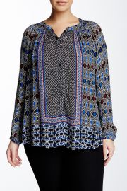 Gypsy Ikat Blouse Plus Size at Nordstrom Rack