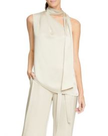 HALSTON Asymmetric Scarf-Neck Top Women - Bloomingdale s at Bloomingdales