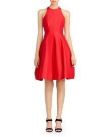 HALSTON HERITAGE Cutout Structured Fit and Flare Dress at Bloomingdales